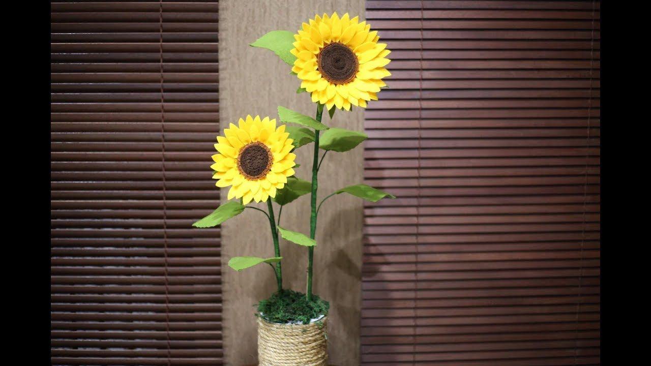 Diy Felt Sunflower Cara Membuat Bunga Matahari Dari Flanel
