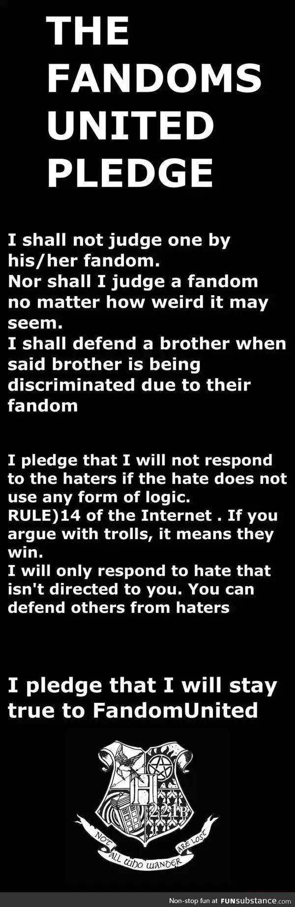 I Pledge Allegiance To The Fandom Funsubstance Com Unite Book Fandoms What Doe Mean Of Me Republic In Justice