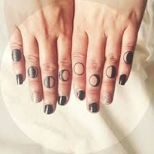 Phases Of The Moon Finger Tattoos Finger Tattoos Knuckle Tattoos Tattoo Work