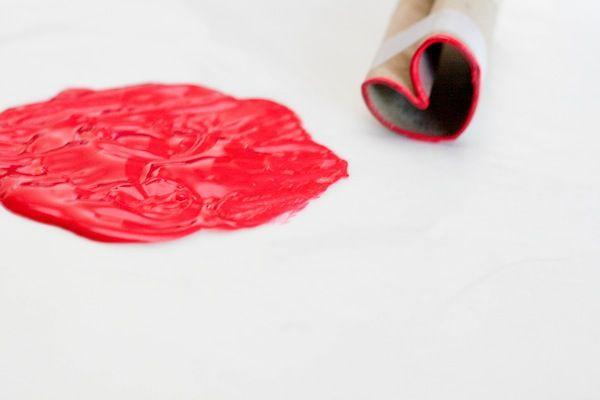 Toilet Paper Roll Heart Stamp - Sello corazón de rollo de papel higiénico