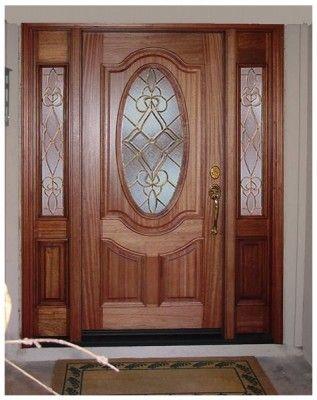 Puertas en madera con vidrio dormitorios en 2019 for Puertas en madera entrada principal