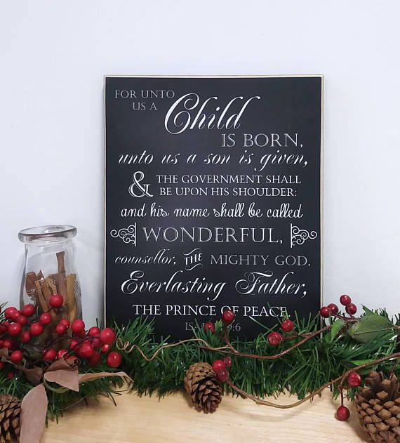 & Sign Decor Meaning Displaying Isaiah 96 This Beautiful Christmas Decor Wood Sign