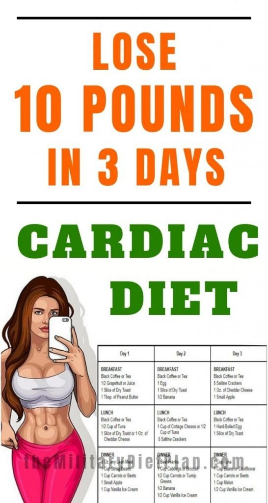 3-Day Cardiac Diet To Lose 10 Pounds in 3 Day.  The 3-Day Cardiac Diet, is designed to give you a qu...
