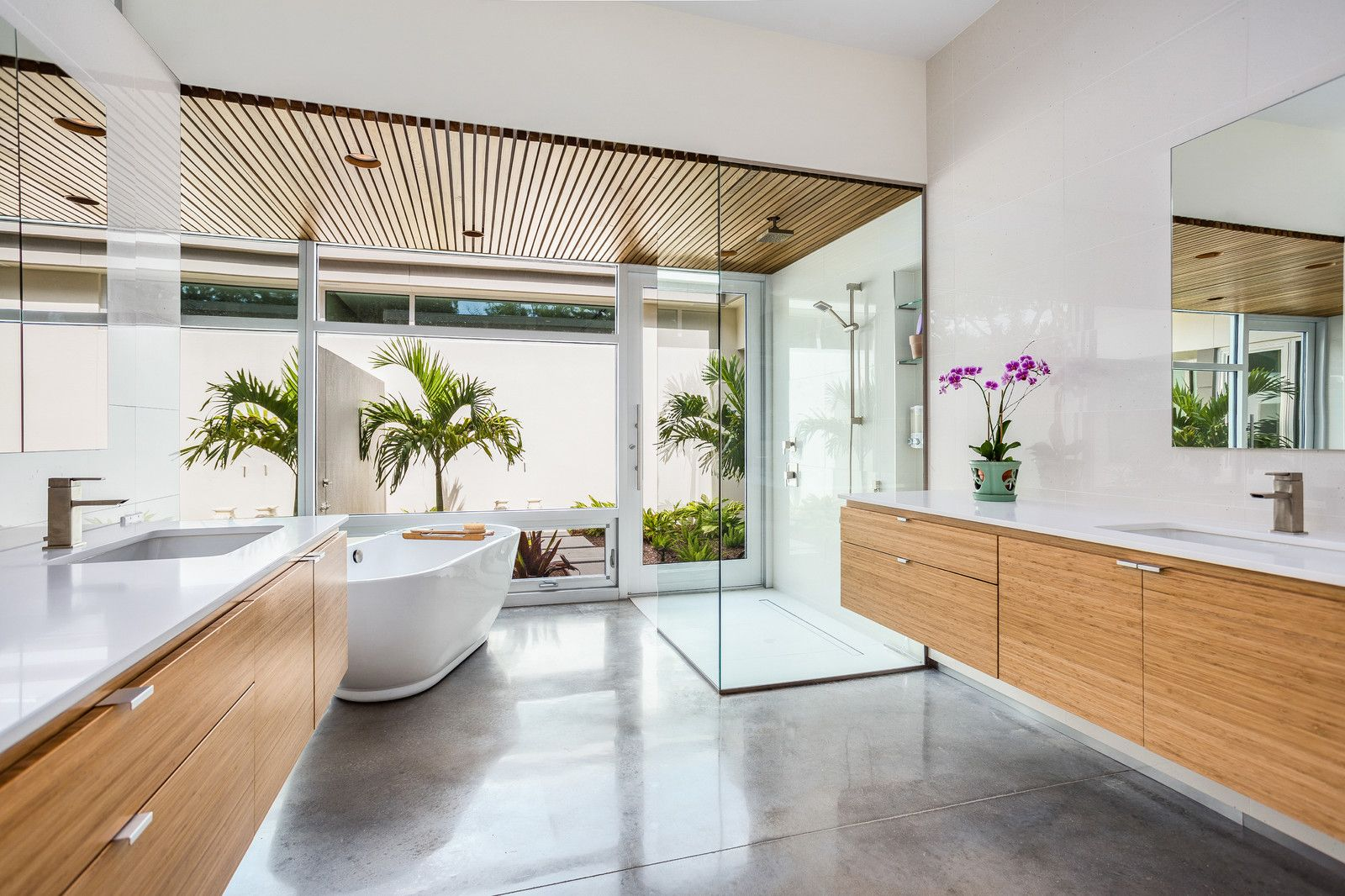 Modern Zen Asian Inspired Home Design Zen Bathroom Concrete Bathroom Design Modern Bathroom Design