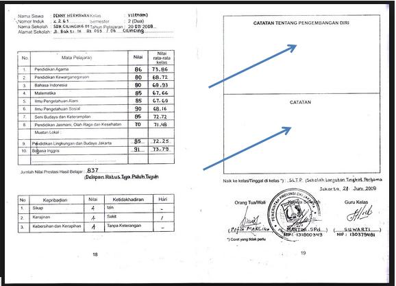 Download Contoh Catatan Pesan Guru Pada Raport Ktsp Dan K 2013 Entri Sekolah