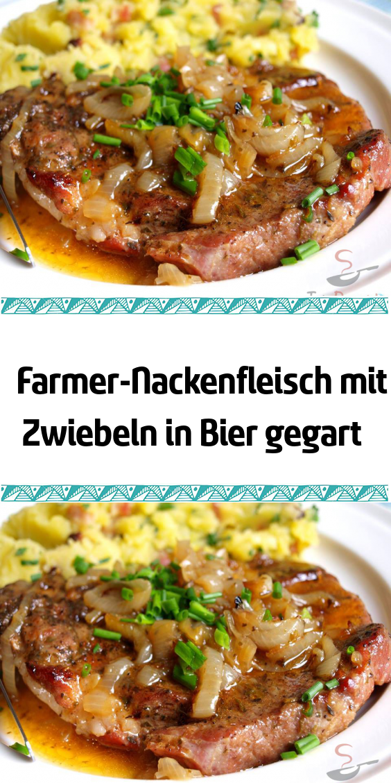 Photo of Farmer's neck meat with onions cooked in beer