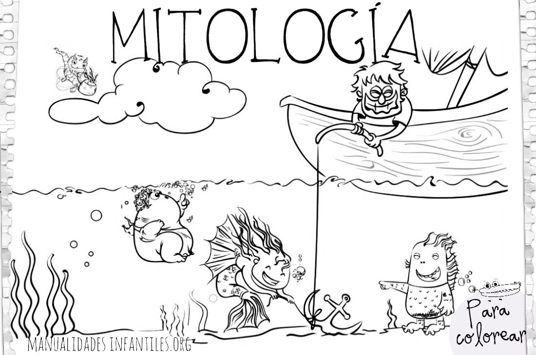 Dibujos de Mitología Cántabra | Mitología, Dibujos de y Colorear
