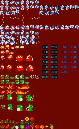 Dig Dug 1982 Pixel Animation Sprite Arcade