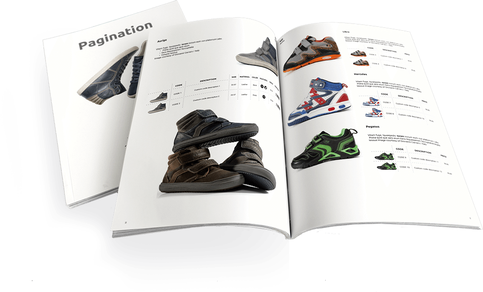 InDesign Line Sheet Template Footwear