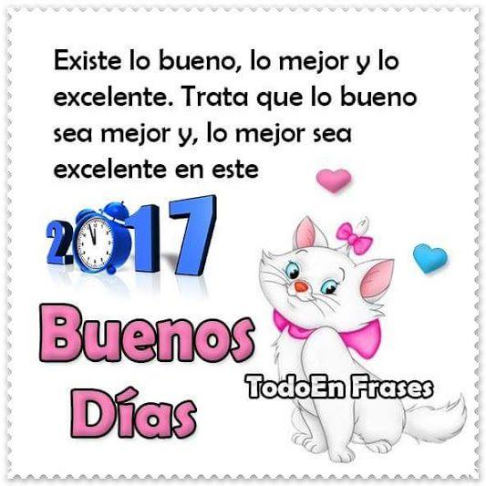 Imagenes De Buenos Dias Con Mensajes Bonitos Para El Año Nuevo 2017 Imágenes De Buenos Días Imagenes De Buenos Mensajes Bonitos