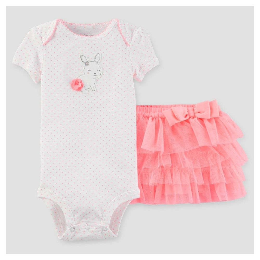 5890edab38c0 Baby Girls  Bunny 2 Piece Tutu Set Pink Dot 12M - Just One You Made by  Carter s