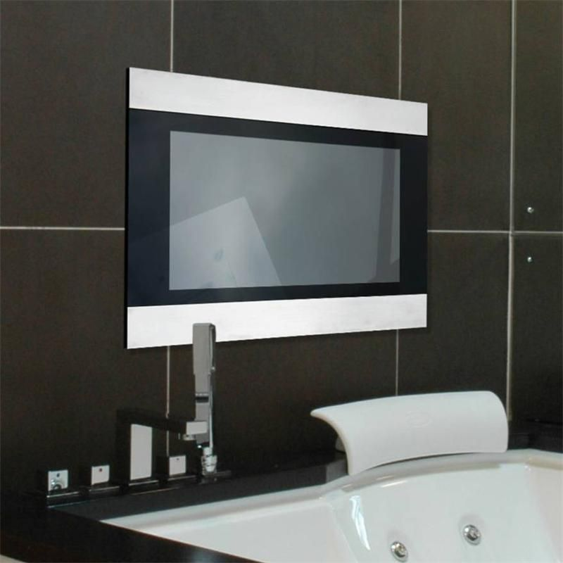 Bathe In Style With An Infiniti Waterproof TV Clear Glass  - tv im badezimmer