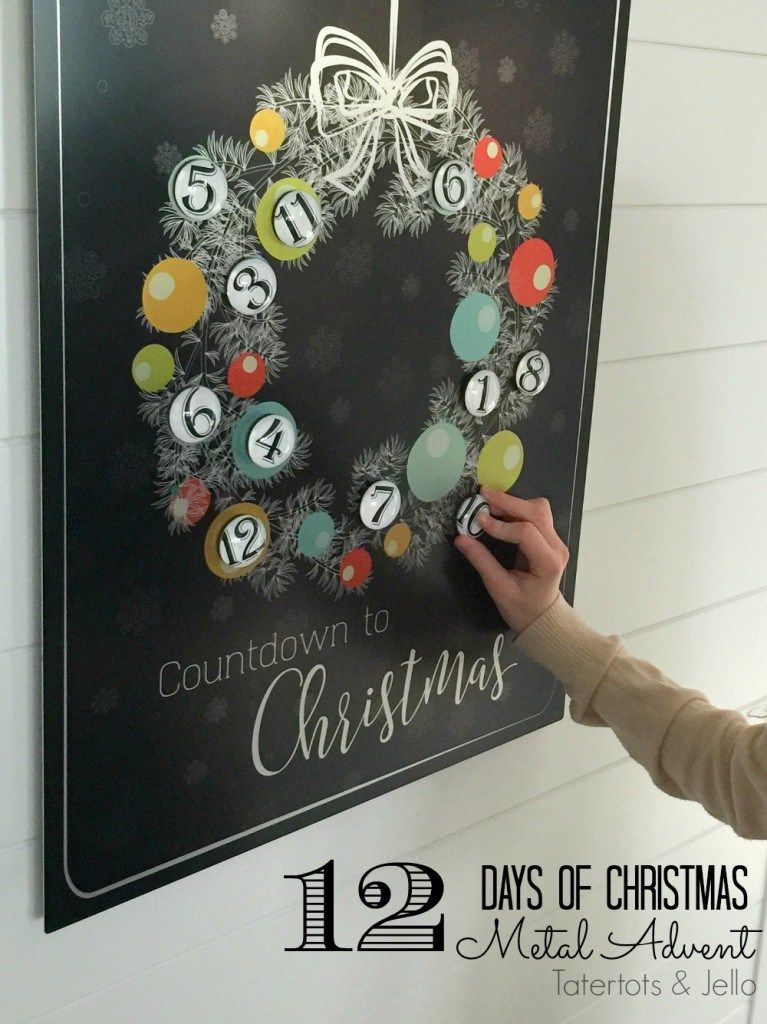 Count Down The Days Until Christmas With This Fee Printable On A Metal Board Fro Christmas Countdown Calendar Christmas Countdown Diy Christmas Advent Calendar