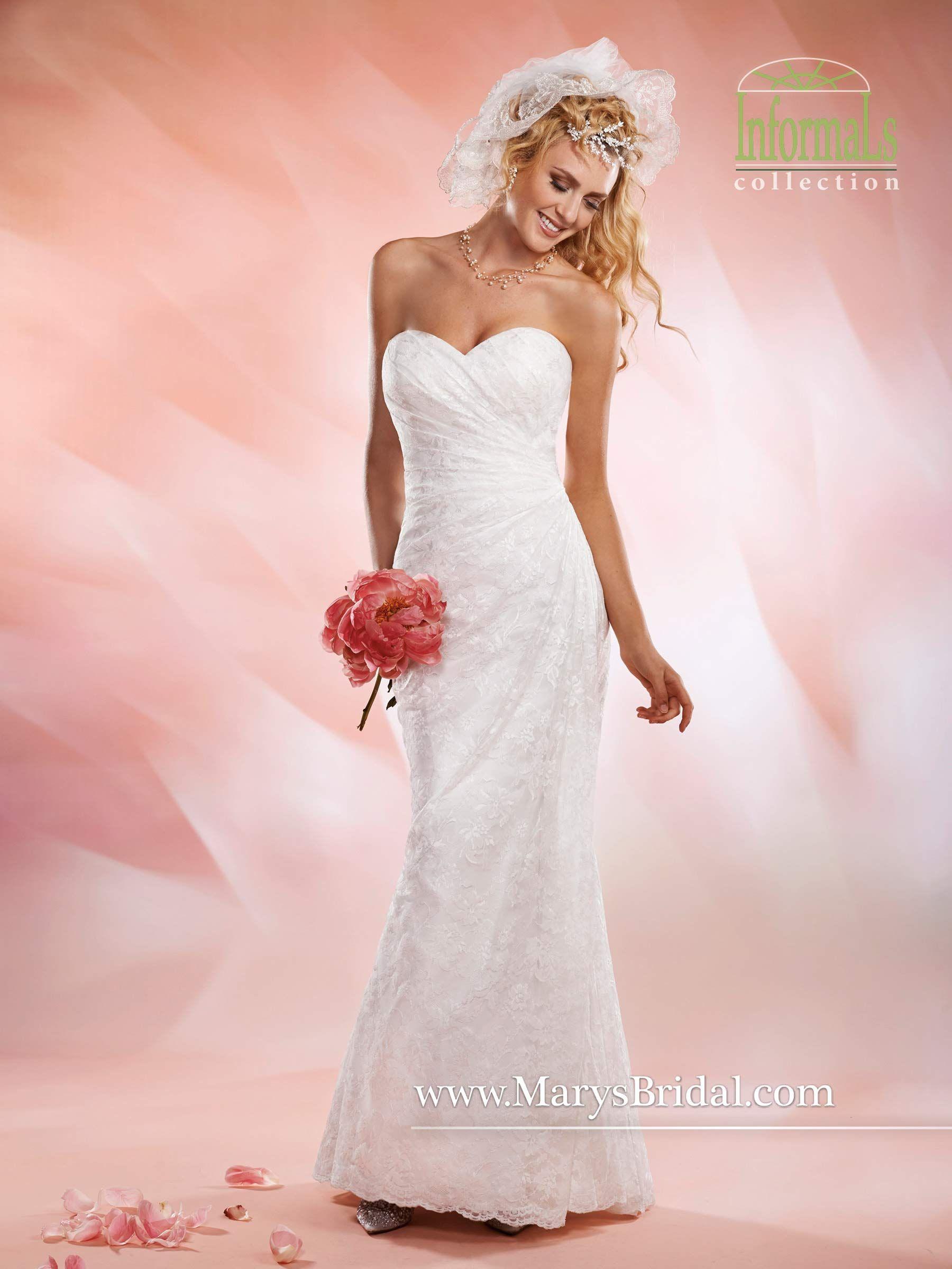 Chantilly lace, sleeveless sweetheart sheath informal wedding bridal ...