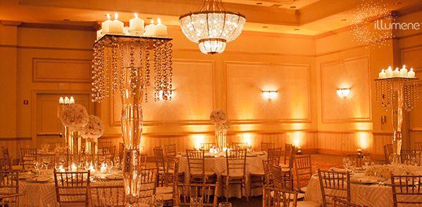 Amber Glow Candlelight Uplighting Wedding Wedding Lights Uplighting