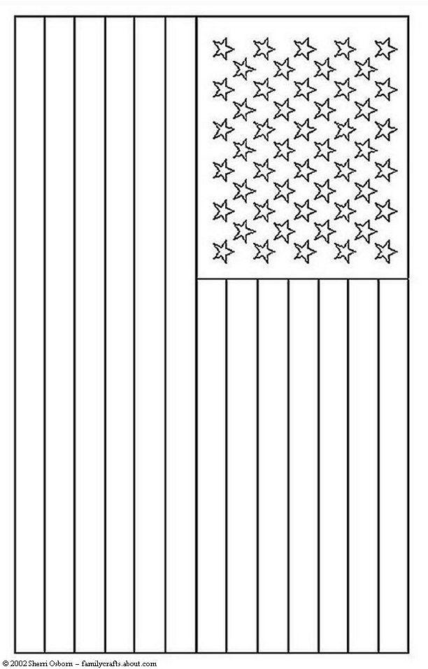 Malvorlage Amerikanische Flagge   Coloring and Malvorlagan