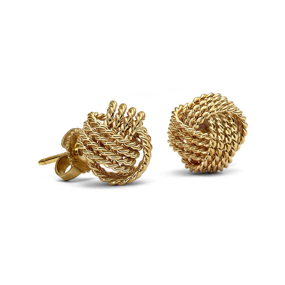 Curly Coveting Tiffany Twist Knot Earrings In 18k Gold