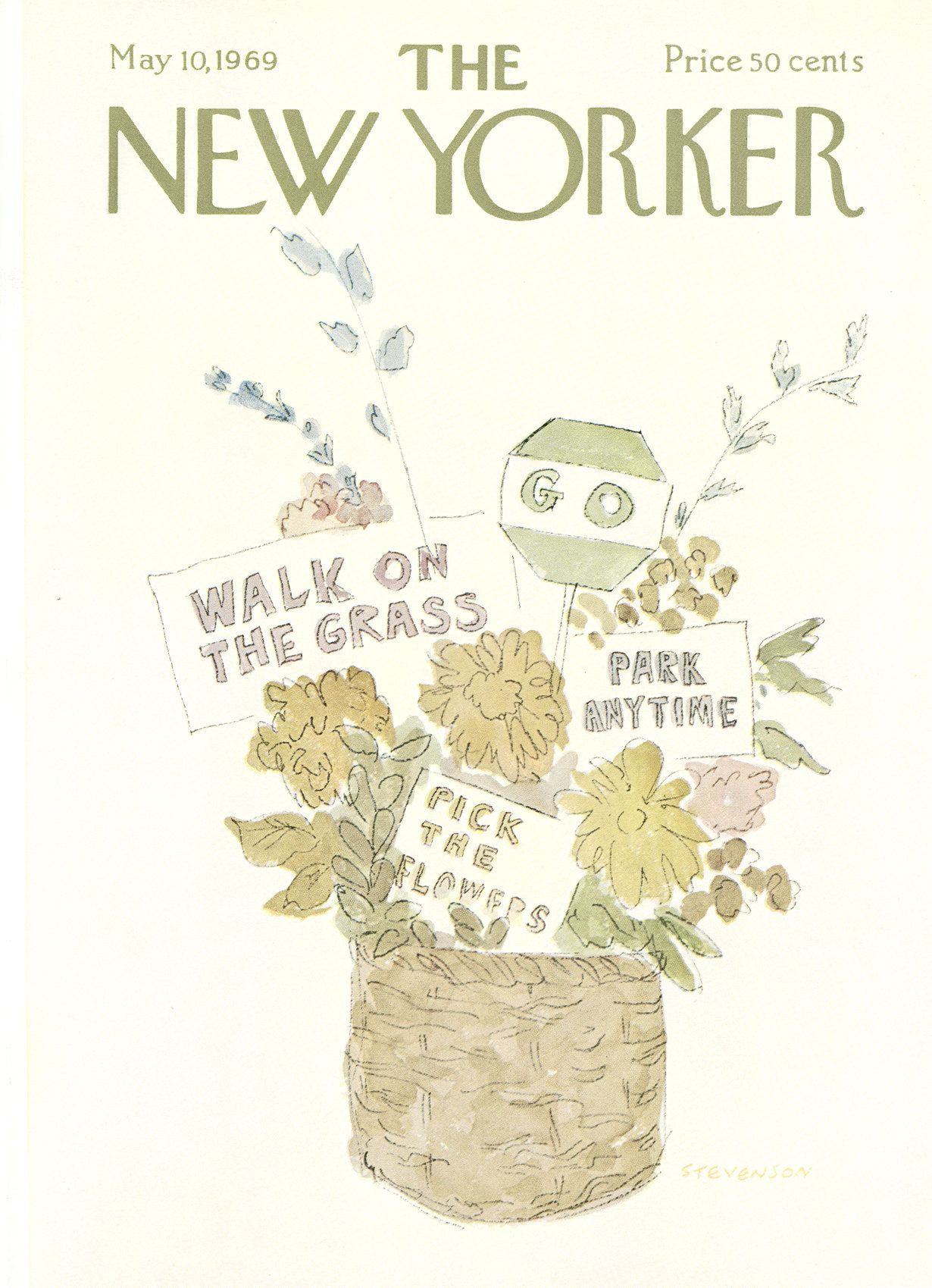 The New Yorker - Saturday, May 10, 1969 - Issue # 2308 - Vol. 45 - N° 12 - Cover by : James Stevenson