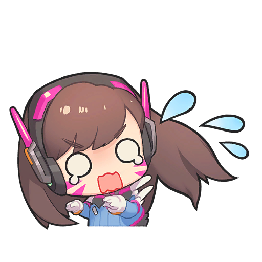 Ay Here S All The Sprays From The D Va Nano Cola Overwatch Wallpapers Chibi Overwatch Cute Anime Chibi