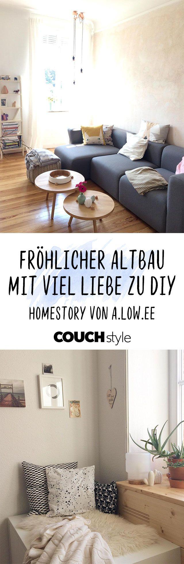 Willkommen zu hause design bilder fröhliche altbauwohnung mit viel liebe zu diy in   homestorys