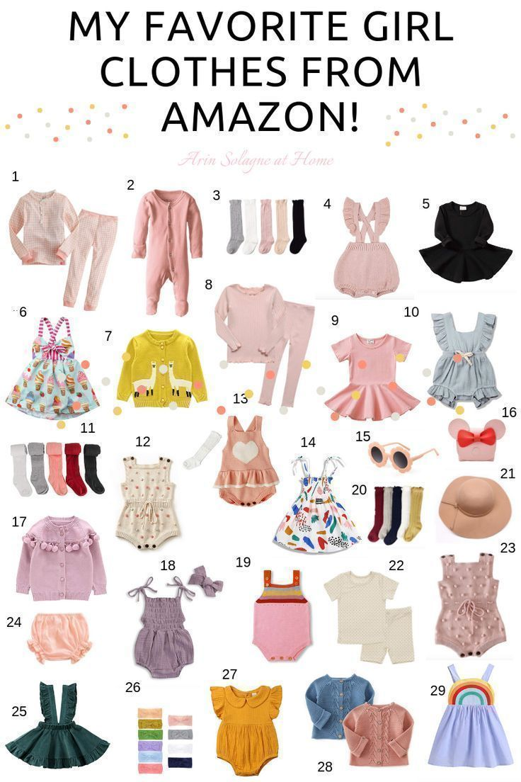 Baby and Toddler Girl Clothes from Amazon - arinsolangeathome -   15 DIY Clothes For Girls fashion ideas