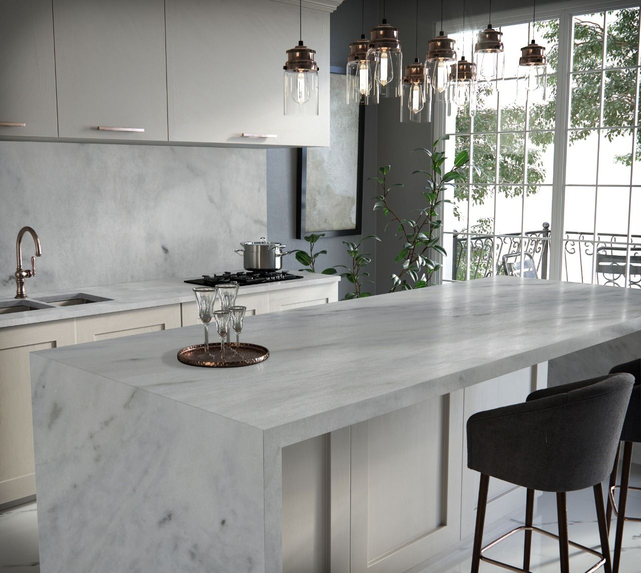 Brazilian Carrara Marble By Allure Natural Stone Toronto Interior Design Interior Design Shows Brooklyn Kitchen