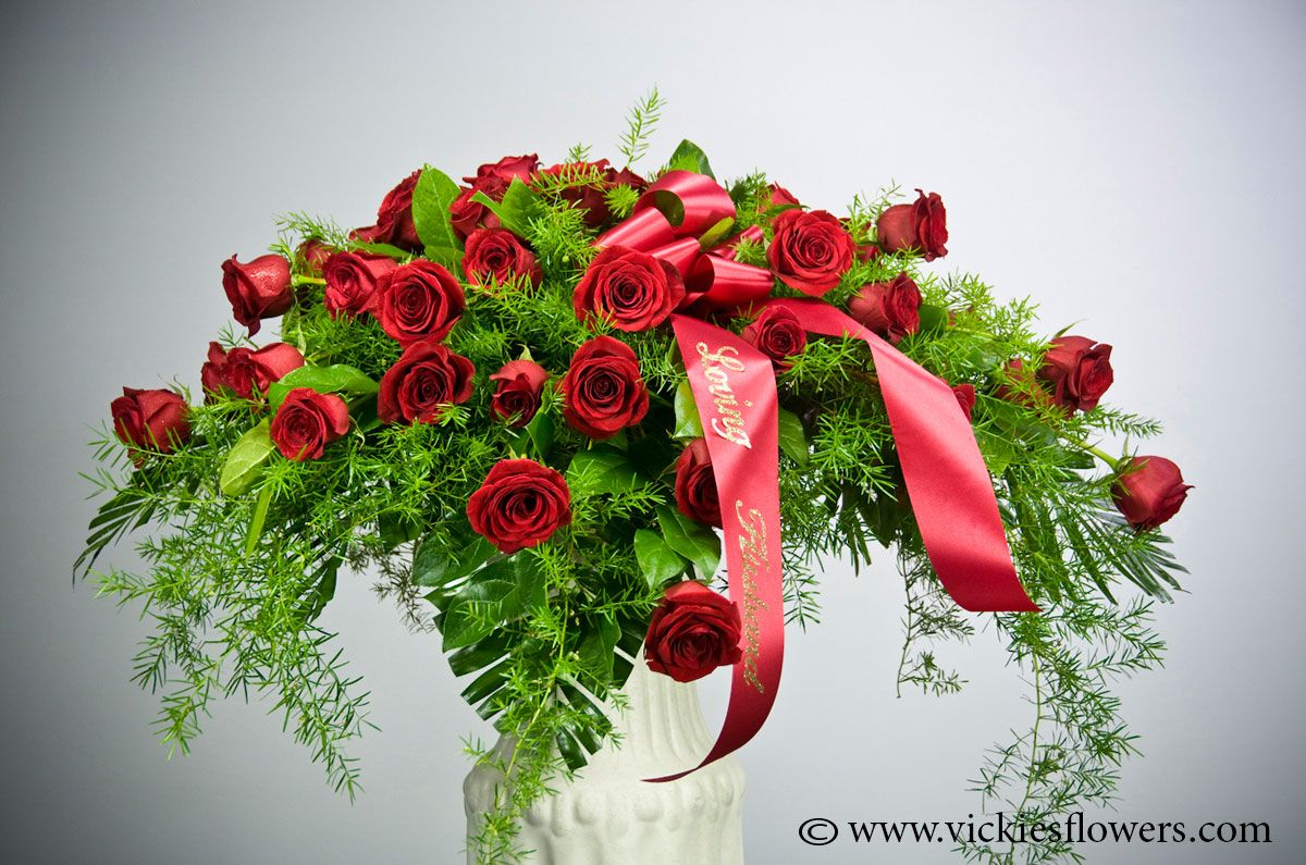 Casket Sprays Delivered Daily Vickies Flowers Brighton Co