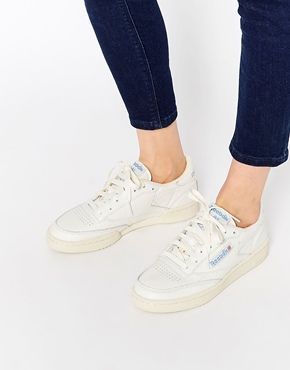 style roman emballage élégant et robuste check-out Reebok Club C 85 White Vintage Court Trainer | WHITE ...