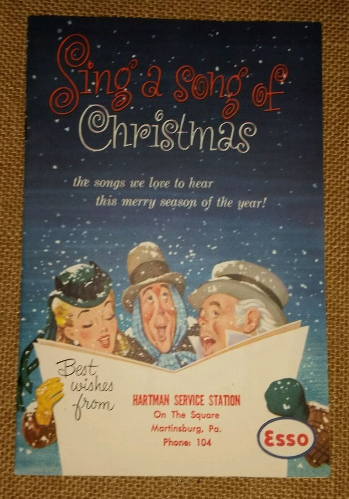 Vintage Advertising ESSO Motor Oil Sing A Song of Christmas 1953 ...