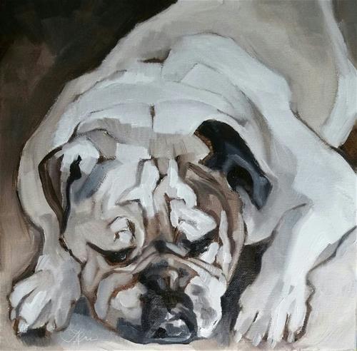 "Daily Paintworks - ""Power Resting"" - Original Fine Art for Sale - © Leni Tarleton"