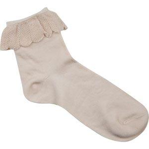 Scalloped Pointelle Anklet Socks