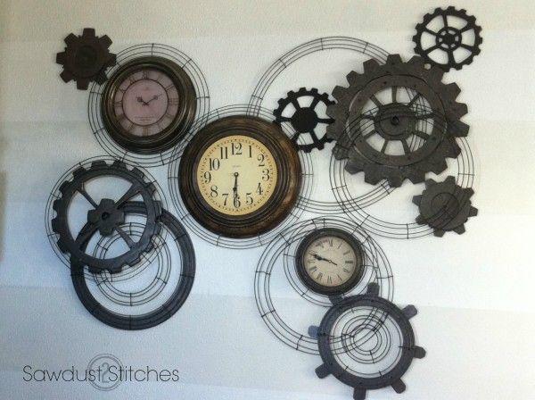 Gear Wall Decor steampunk gear clock | gear clock, steampunk gears and clocks
