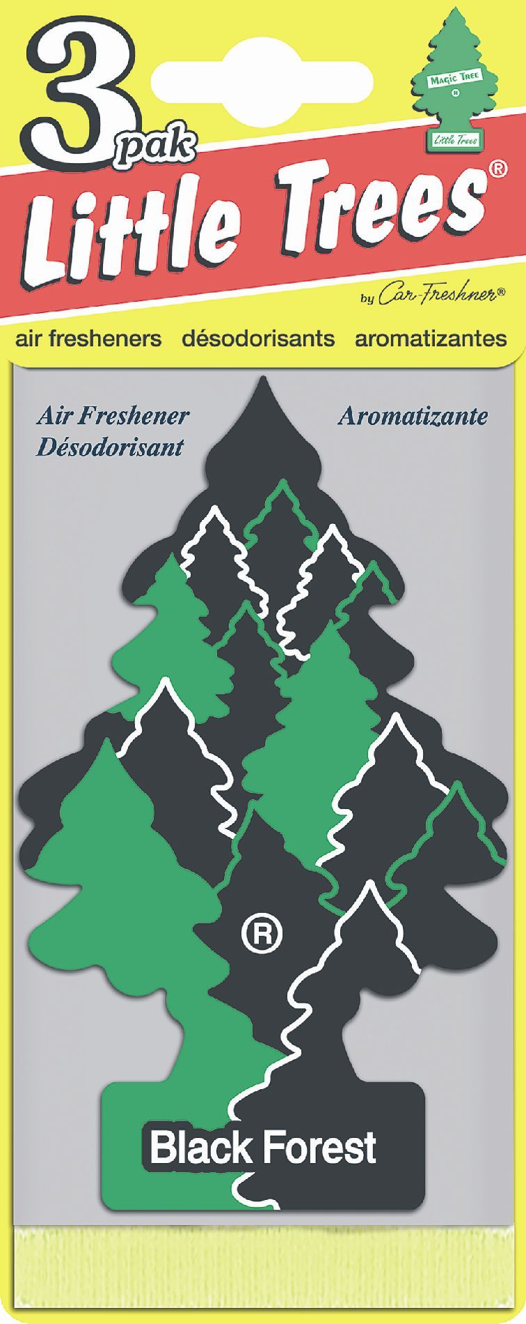 Car Freshner Little Trees Air Freshener 3 pack Black