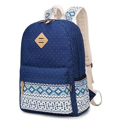 c2980a541d Korean Canvas Printing Backpack Women School Bags For Teenage Girls Cute  Bookbags Vintage Laptop Backpacks Female