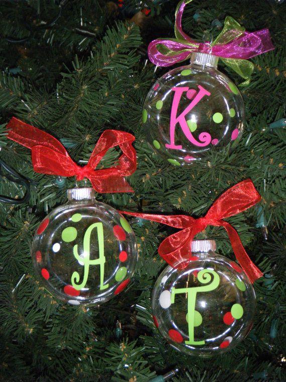Personalized Christmas Ornaments snowmen handprint Pinterest