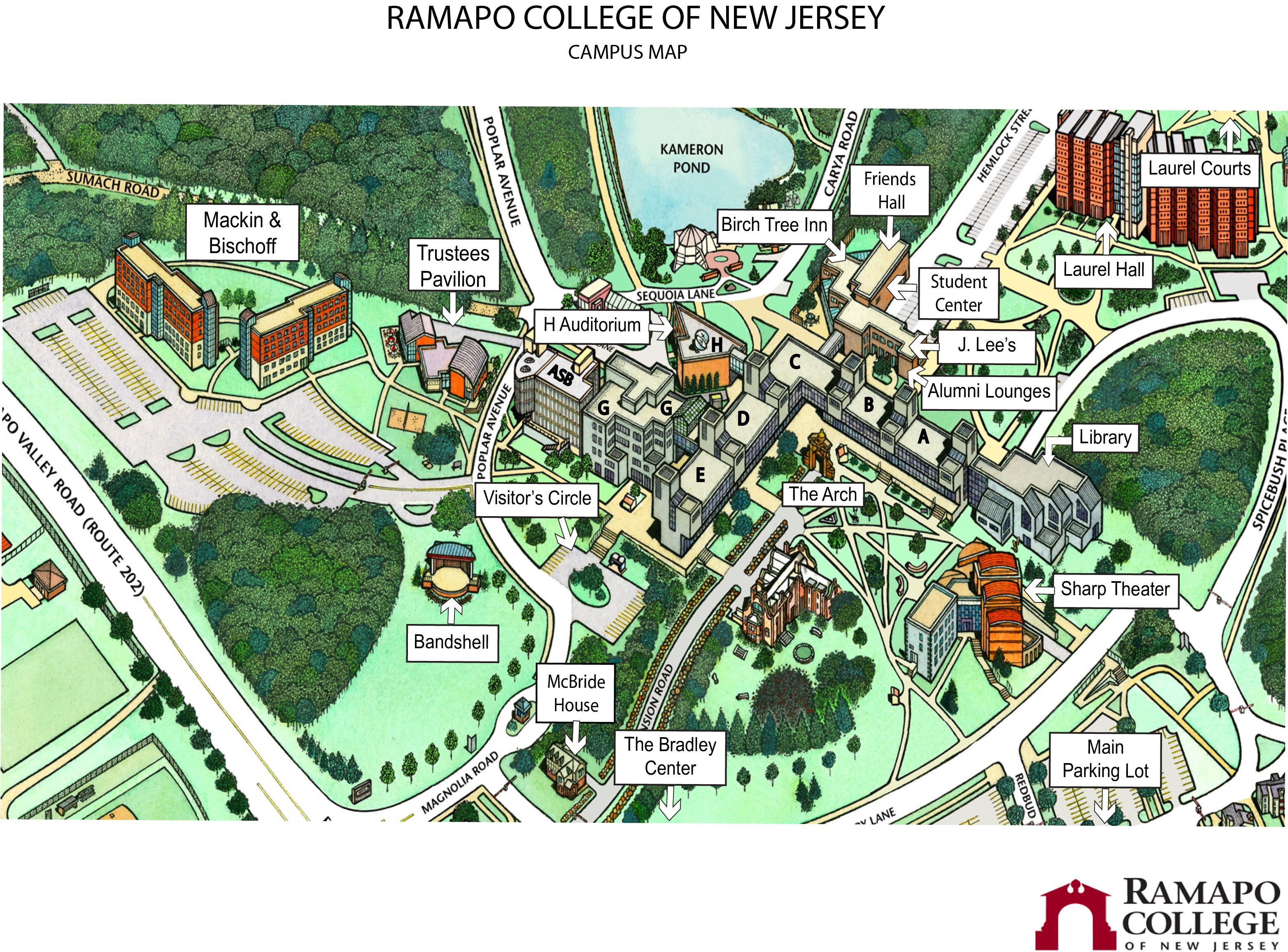 Map Of Ramapo College Ramapo College Campus Campus Map College