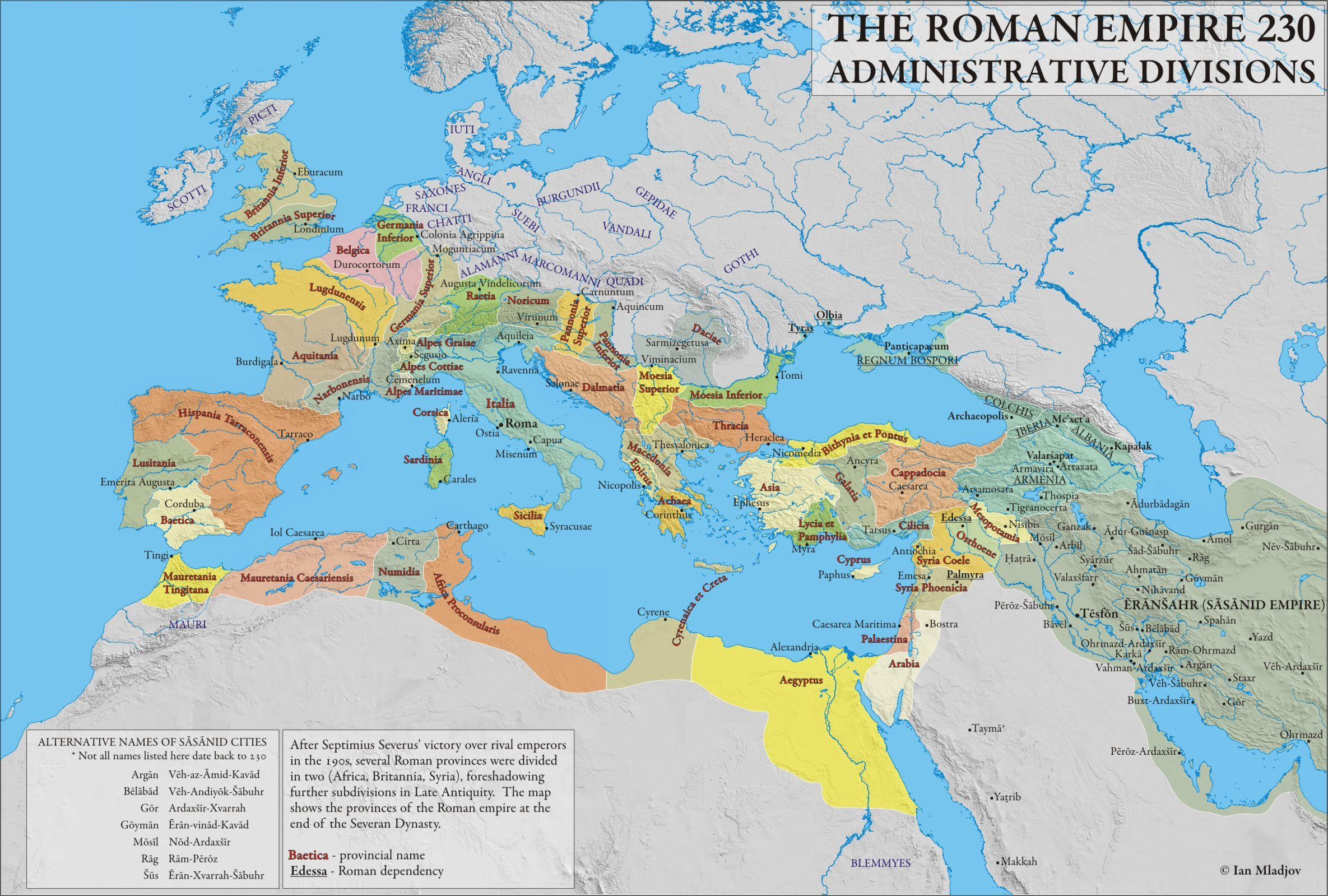 Late Roman Empire Map.Roman Empire 230ad Historyx Roman Empire Historical Maps Roman