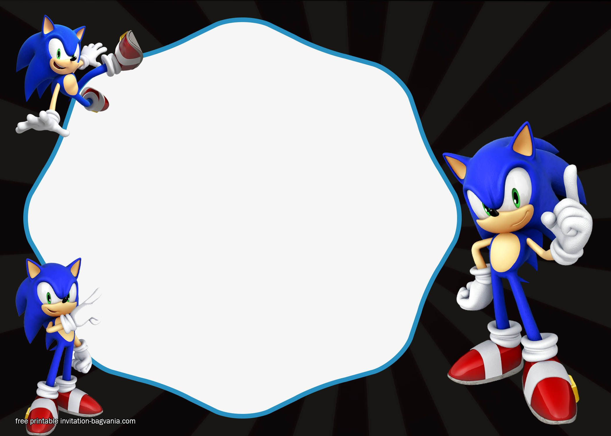 Download FREE Sonic The Hedgehog Invitation Templates Free