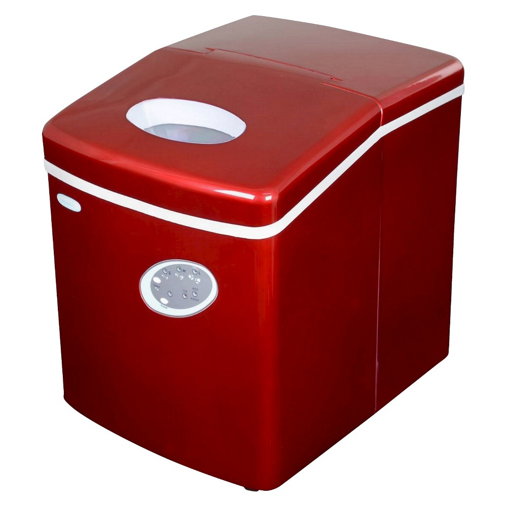 Newair 28 Lbs Ice Maker Red Small Cooler Appliances Ice