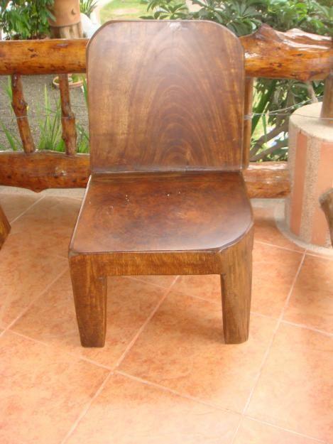 sillas de madera rustica