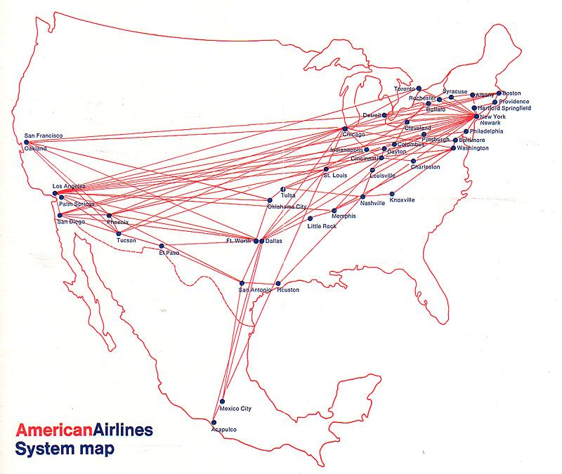 American Airlines 1968 Airline Route Maps Pinterest: Us Airways Map Pdf At Codeve.org
