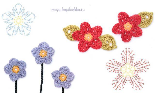 Todo crochet   Pinterest   Hoja, Mariposas y Flor