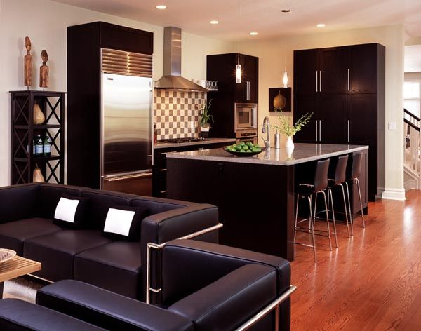 beautiful kitchens with espresso cabinets | floors beautiful open