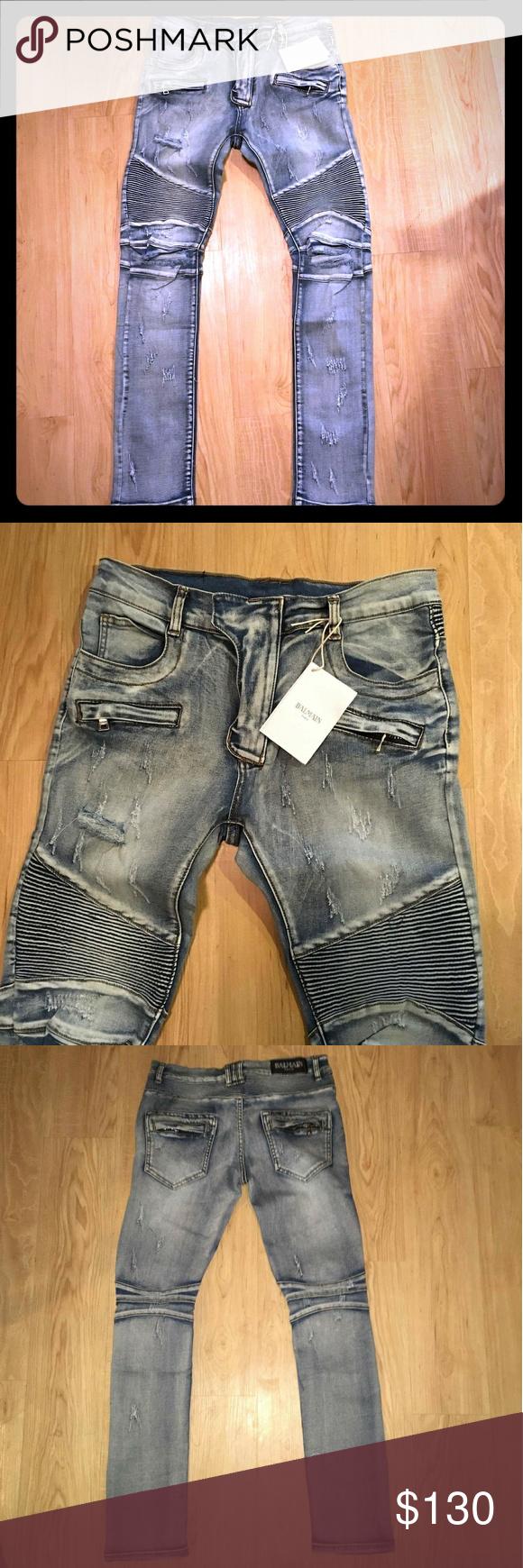 99a2ef6d Balmain biker jeans size 32 New Size 32 stretch Fast 2-3 days shipping  Balmain Jeans Slim Straight