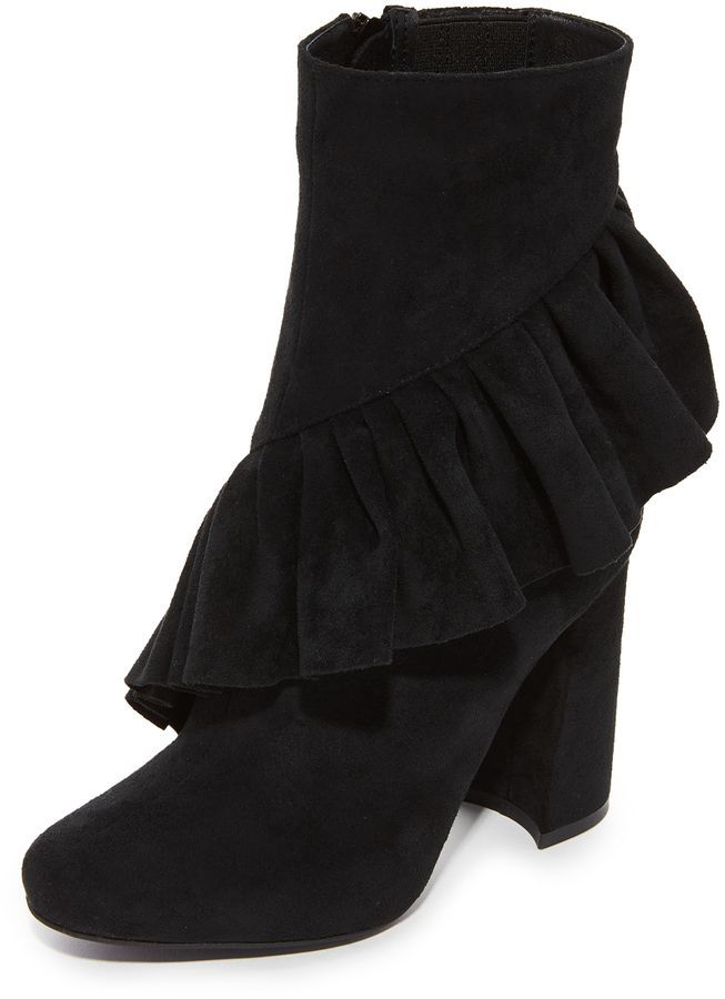 Jeffrey Campbell Reilly Ruffle Stretch Ankle Booti… #Affiliate Link