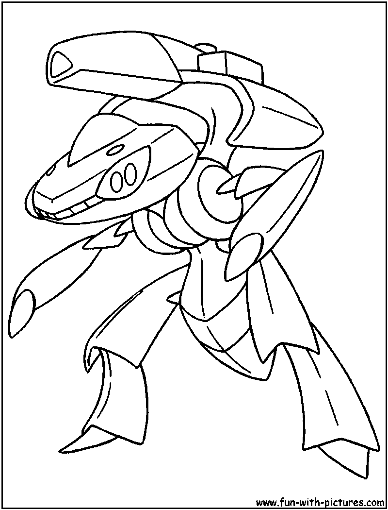 cloringpages genesect pokemon colouring pages