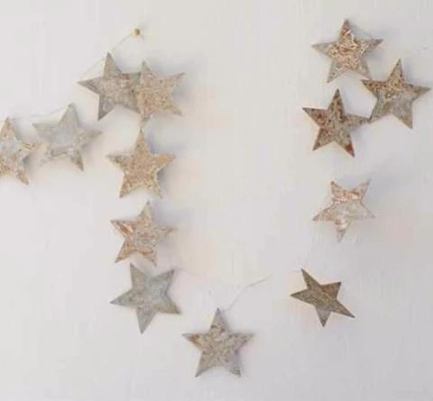 Vintage Tin Star Garland Star garland, Tinsel garland