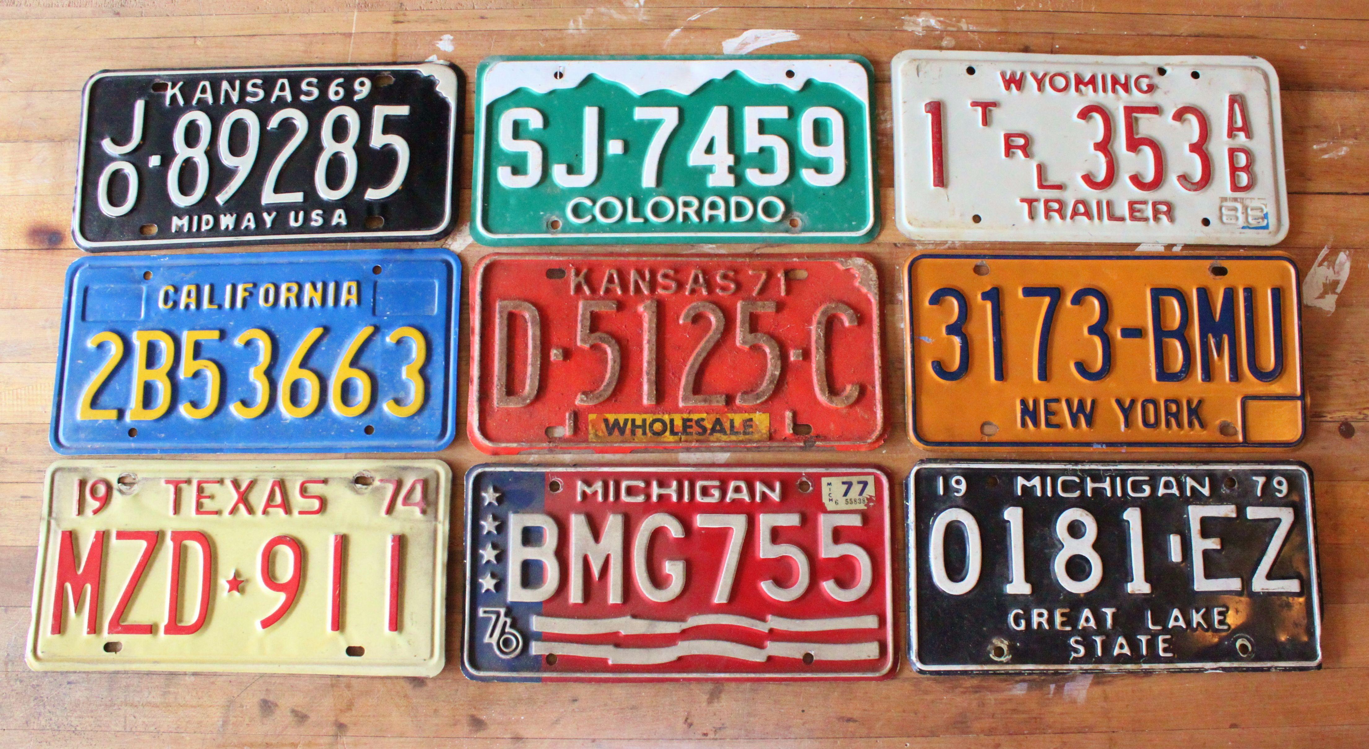 A Texas License Plate Becomes a Box | License plates, Craft fairs ...