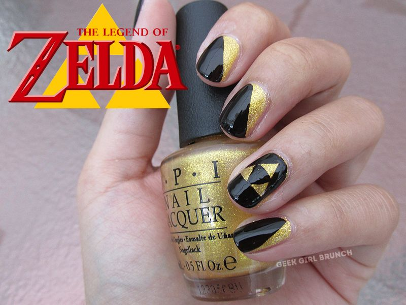 zelda nails | Nails | Pinterest | Makeup, Office nails and Nail nail