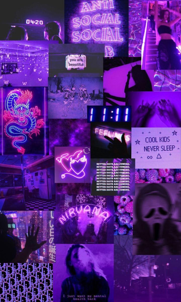 wallpaper iphone estetika neon ungu pada tahun 2020 |  Wallpaper ...
